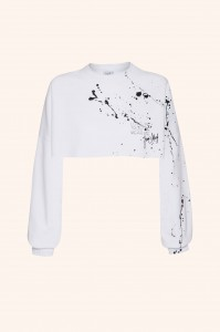 Bluza Love Me White CROP TOP